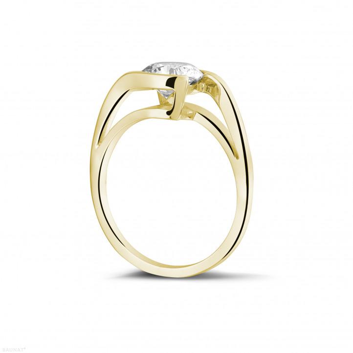 1.25 Karat Diamant Solitärring aus Gelbgold