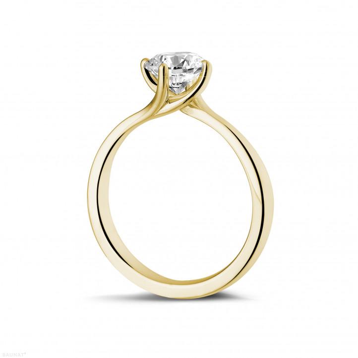 0.90 Karat diamantener Solitärring aus Gelbgold