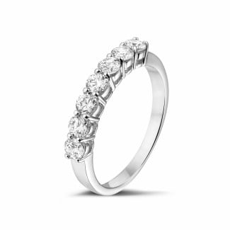 White Gold Diamond Rings - 0.70 carat diamond alliance in white gold