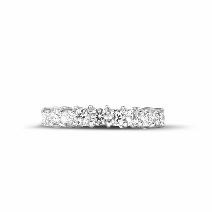 0.54 carat diamond eternity ring in white gold