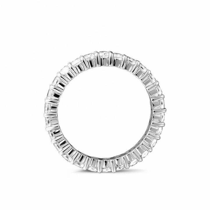 1.56 carat diamond eternity ring in platinum