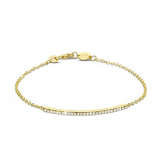 0.25 carat fine diamond bracelet in yellow gold
