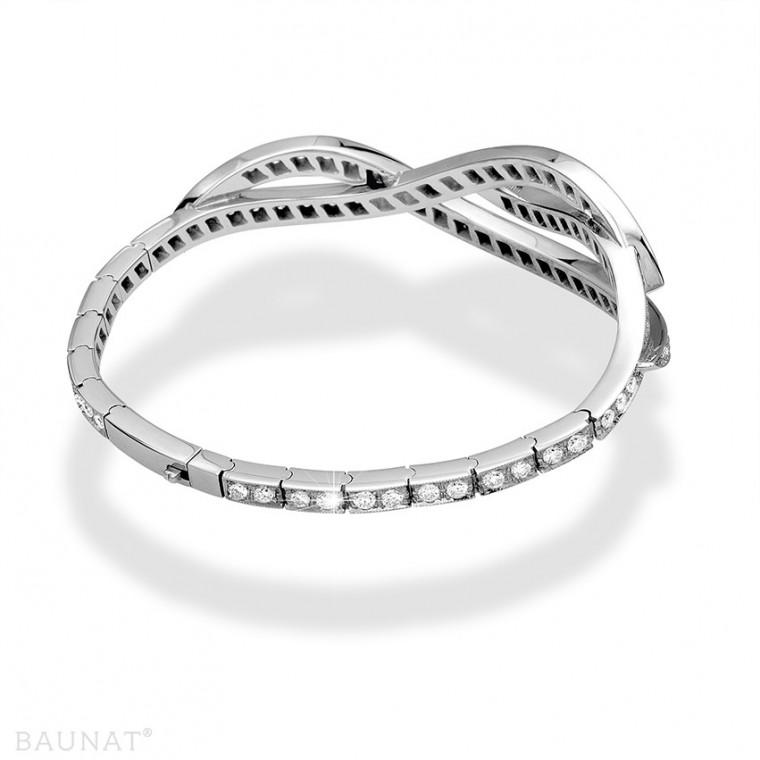 White Gold Diamond Bracelets 3 32 carat diamond BAUNAT