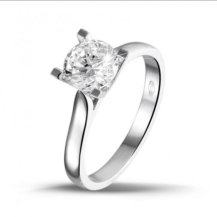 1.25 carat solitaire diamond ring in platinum