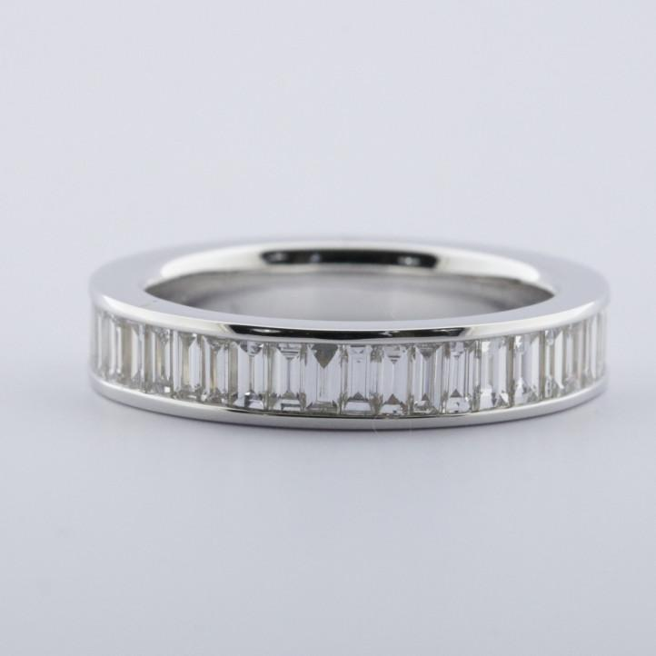Mr. Dimas - eternity ring (full set) in white gold with amethyst