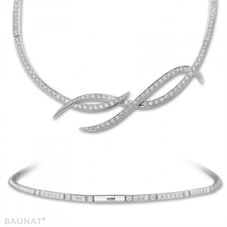 7.90 carat diamond design necklace in white gold