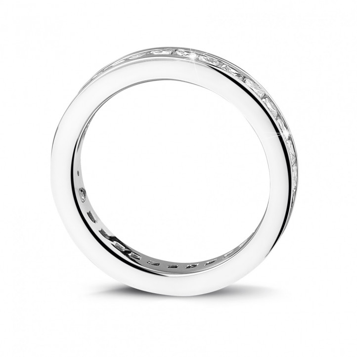 1.75 carat eternity ring (full set) in platinum with princess diamonds