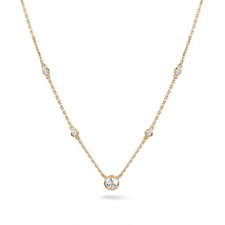 0.45 carat diamond satellite necklace in red gold