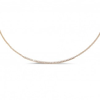 Timeless - 0.30 carat fine diamond necklace in red gold