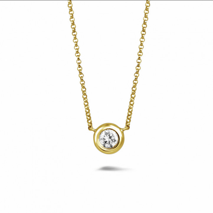 0.70 carat diamond satellite pendant in yellow gold