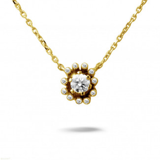 0.25 carat diamond design pendant in yellow gold