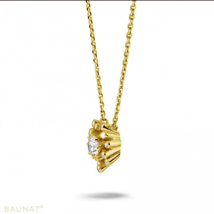 0.75 carat diamond design pendant in yellow gold
