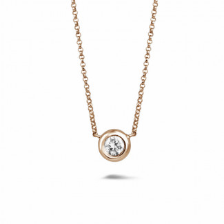 0.70 carat diamond satellite pendant in red gold