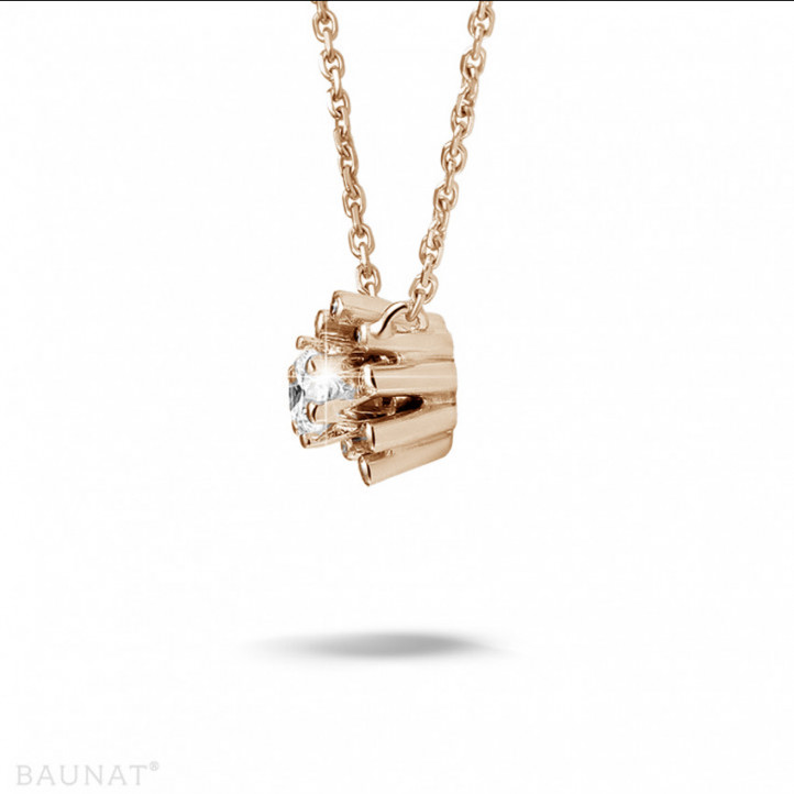 0.25 carat diamond design pendant in red gold