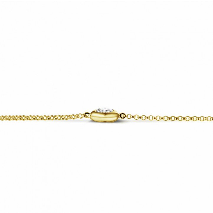 0.30 carat diamond satellite bracelet in yellow gold