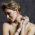 3.32 carat diamond design bracelet in red gold