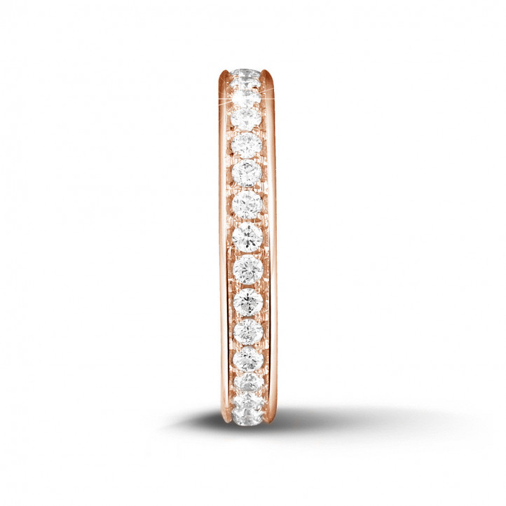 0.68 carat diamond eternity ring (full set) in red gold