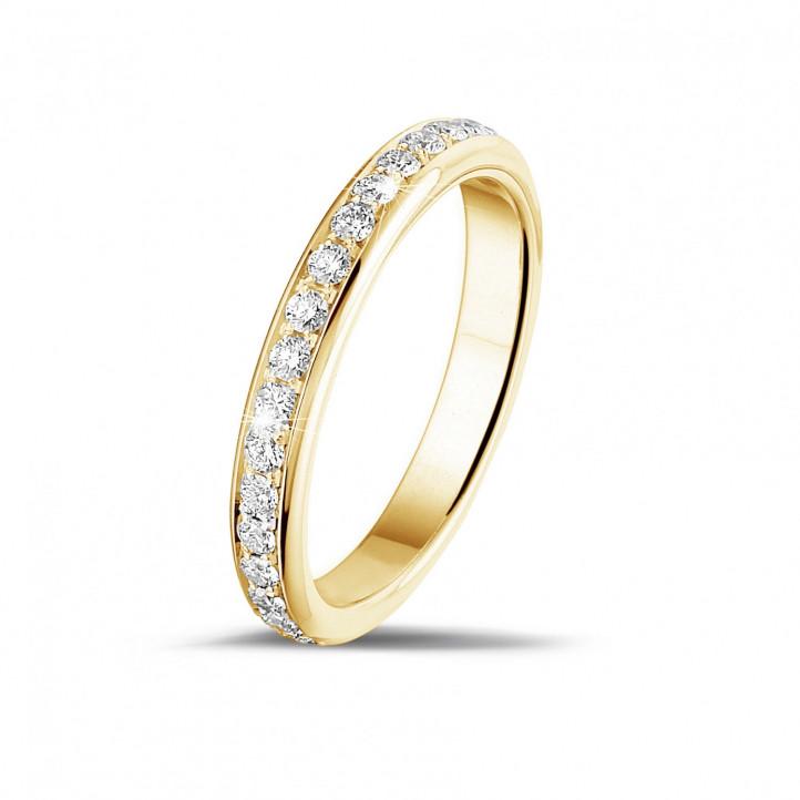 0.55 carat diamond alliance in yellow gold