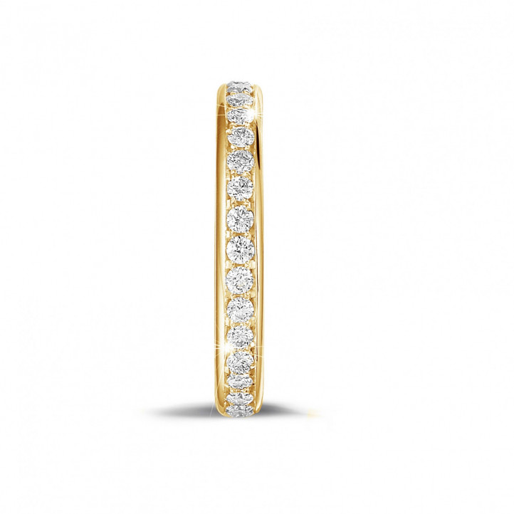 0.55 carat diamond eternity ring (full set) in yellow gold