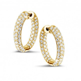 Timeless - 2.15 carat diamond creole earrings in yellow gold