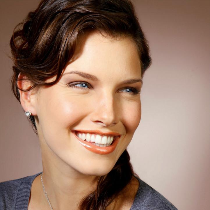 0.50 carat diamond design earrings in white gold
