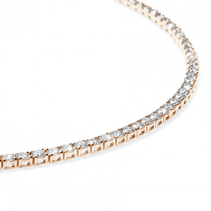 14.60 carat diamond river necklace in red gold