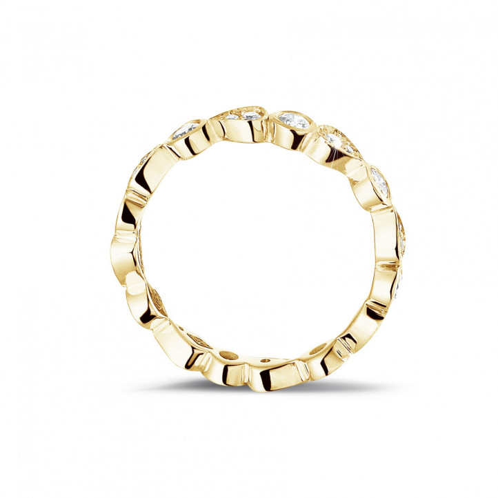 0.50 carat diamond stackable alliance in yellow gold with pear design