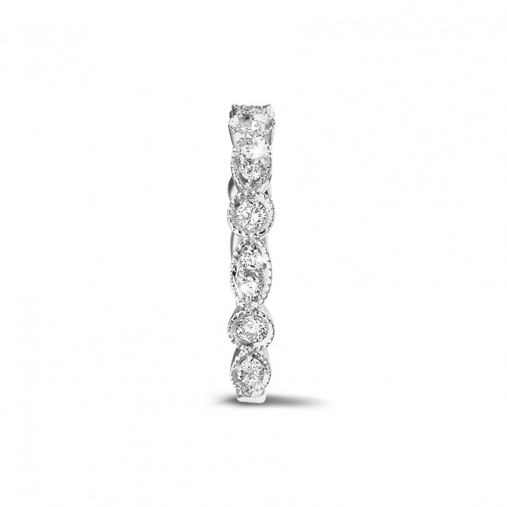 0.30 carat diamond stackable alliance in platinum with marquise design