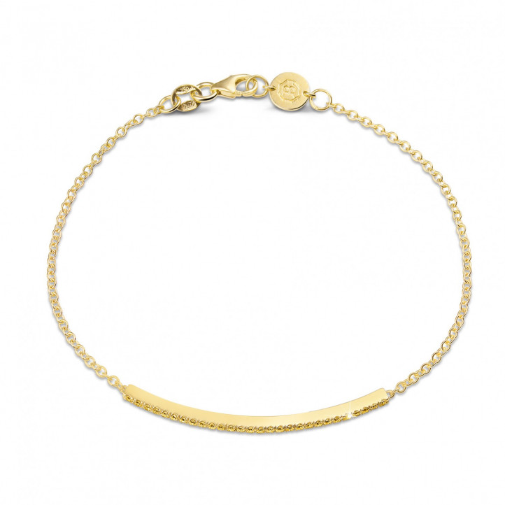 0.25 carat fine bracelet in yellow gold with yellow diamonds