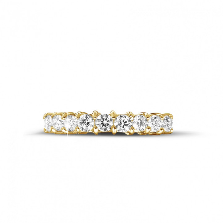 0.54 carat diamond eternity ring in yellow gold
