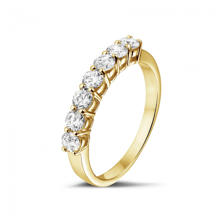 0.70 carat diamond eternity ring in yellow gold