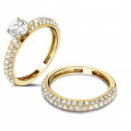 0.65 carat diamond eternity ring (half set) in yellow gold