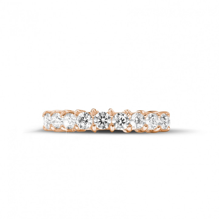 0.54 carat diamond eternity ring in red gold