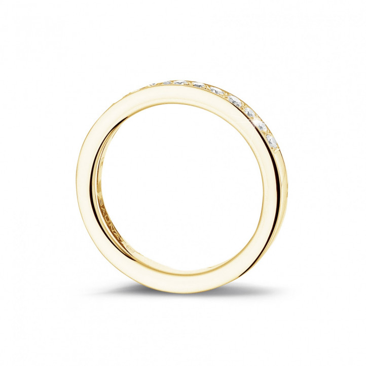 0.25 carat diamond alliance (half set) in yellow gold