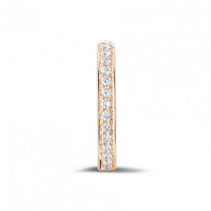 0.25 carat diamond alliance (half set) in red gold