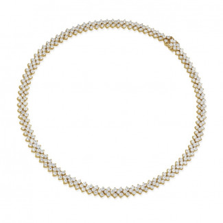 Necklaces - 19.50 Ct necklace in yellow gold with fishtail design