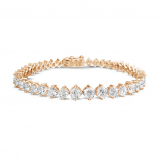 High Jewellery - 8.75 carat diamond gradient bracelet in red gold