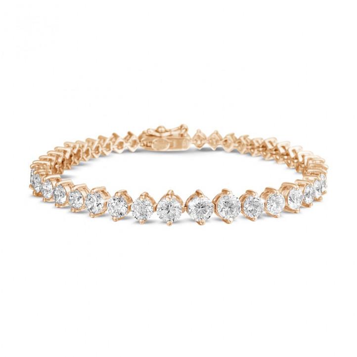 8.75 carat diamond gradient bracelet in red gold