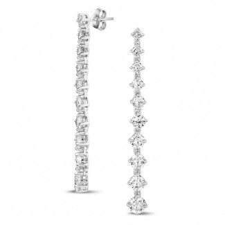 Earrings - 5.85 carat gradient earrings in white gold