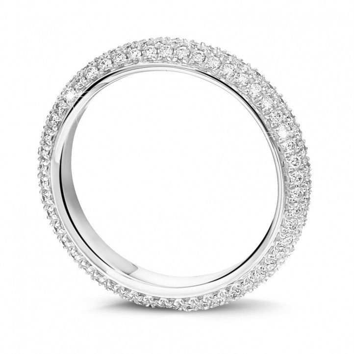 0.85 carat diamond eternity ring (full set) in platinum
