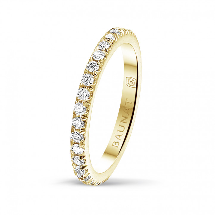 0.55 carat eternity ring (full set) in yellow gold with round diamonds