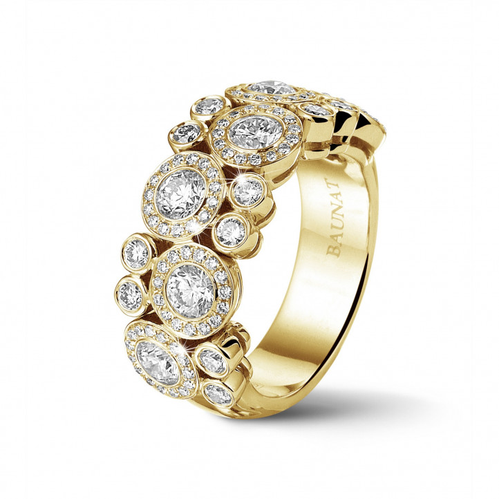 1.80 carat diamond ring in yellow gold
