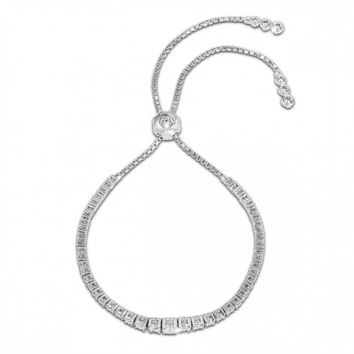 1.50 carat diamond gradient bracelet in white gold