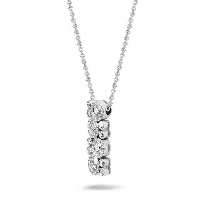1.20 carat diamond necklace in platinum