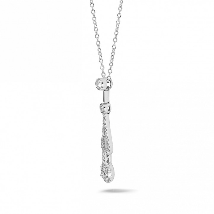 0.50 carat diamond necklace in platinum