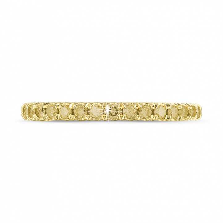 0.55 carat eternity ring (full set) in yellow gold with yellow diamonds
