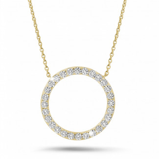 Necklaces - 0.54 carat diamond eternity necklace in yellow gold