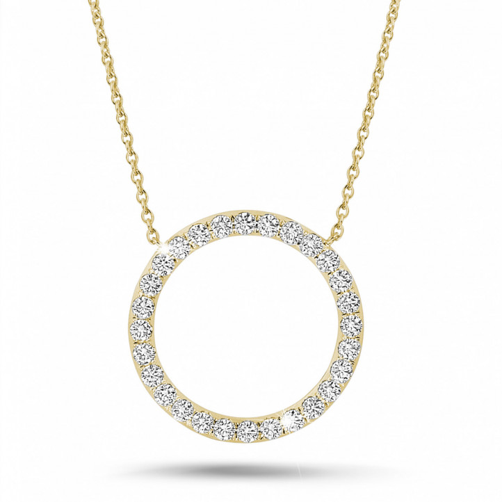 0.54 carat diamond eternity necklace in yellow gold