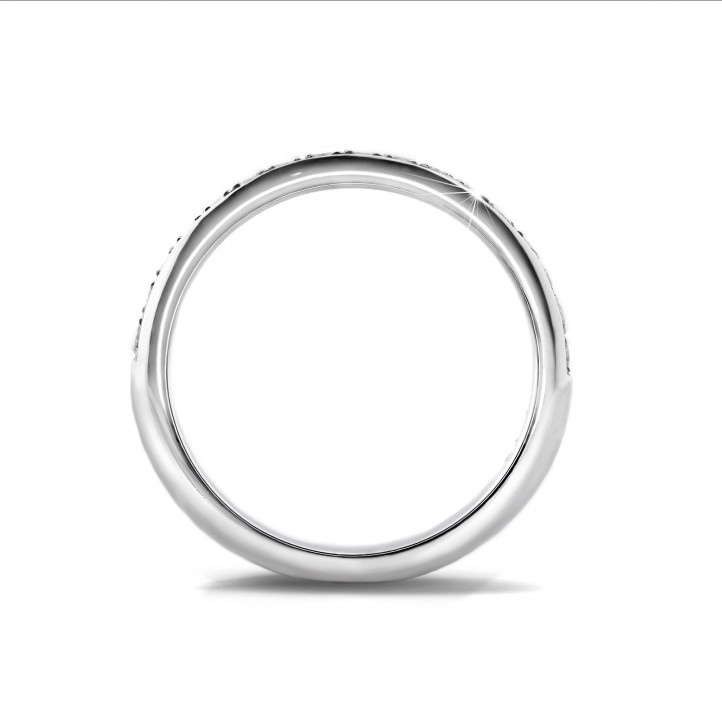 0.30 carat diamond eternity ring (half set) in white gold