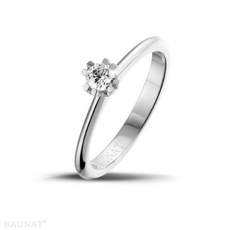 - 0.25 carat solitaire diamond design ring in platinum with eight prongs